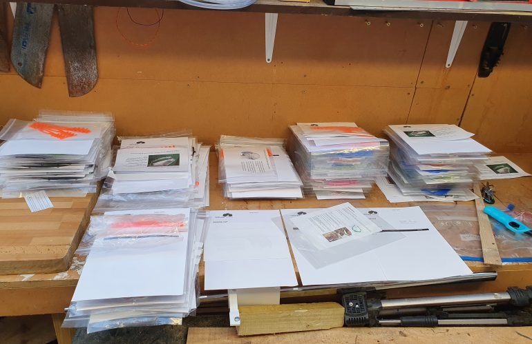 Bank Holiday Update – Another 120 face shields going out.